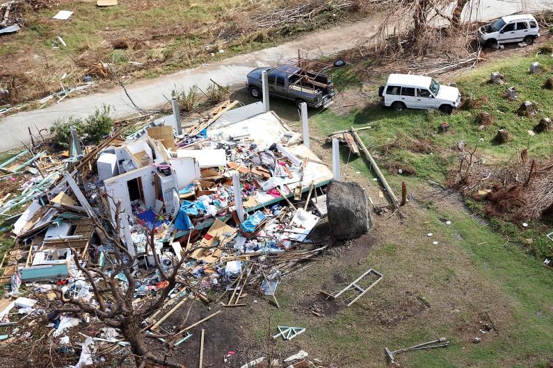 L'île de Jost Van Dyke (îles vierges britanniques), dévastée par l'ouragan Irma.