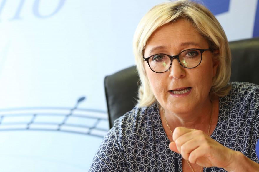 Marine Le Pen le 23 septembre 2017 à Toulouse.