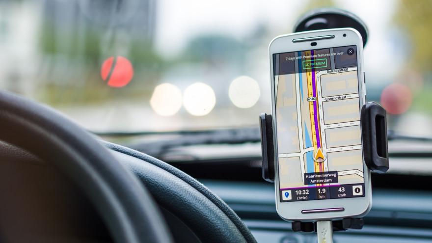 Un système de navigation par satellite sur smartphone