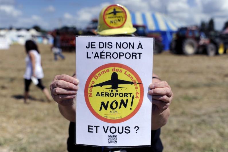 Les opposants à l'aéroport de Notre-Dame-des-Landes.