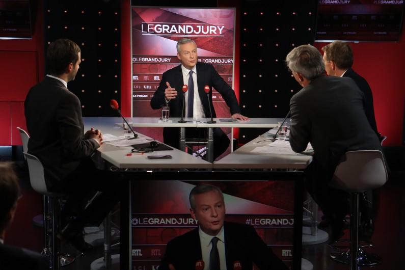 """Bruno Le Maire, invité du """"Grand Jury RTL-LCI-Le Figaro""""."""