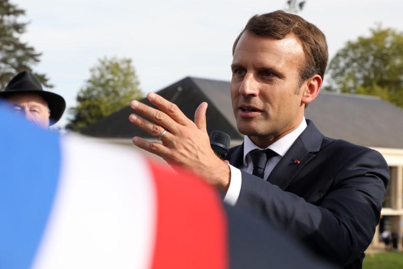 Emmanuel Macron le 4 octobre 2017 à Égletons (Corrèze).