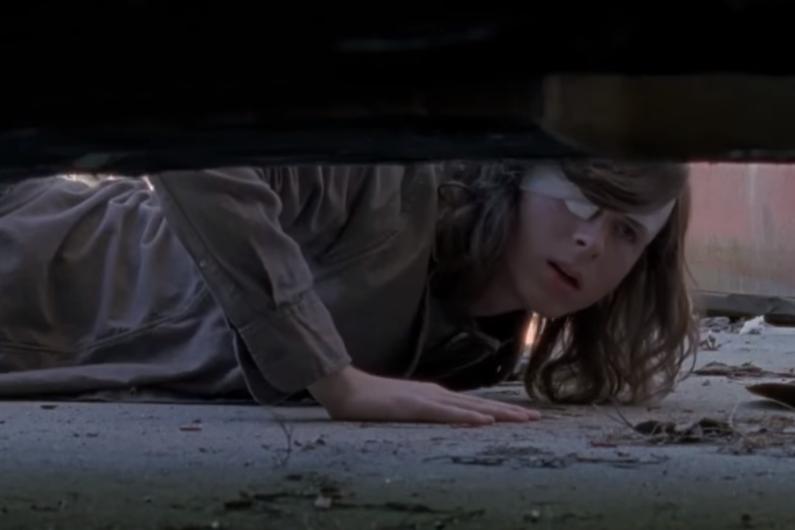"""Carl dans le prochain épisode de la saison 8 de """"The Walking Dead"""""""