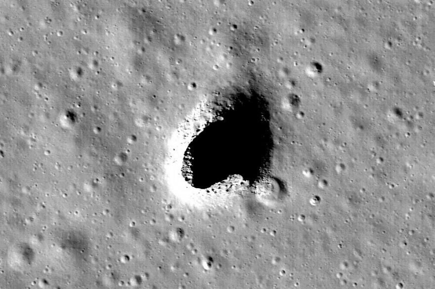 Photo de la zone des collines Marius sur la Lune observée par la sonde Selene