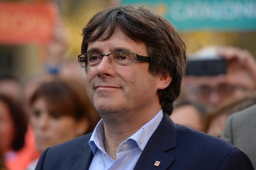 Carles Puigdemont, le 21 octobre 2017 à Barcelone