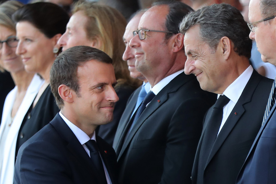 Emmanuel Macrone t Nicolas Sarkozy, le 14 juillet 2017