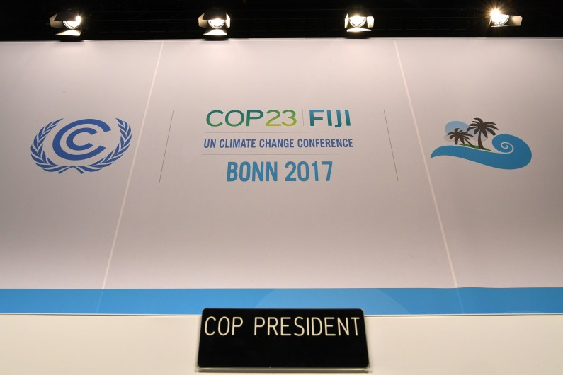 La session d'ouverture de la Conférence COP23 des Nations Unies sur les changements climatiques a eu lieu le 6 novembre 2017 à Bonn en Allemagne.