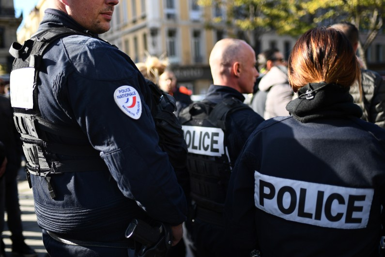 Des officiers de police à Marseille. (illustration)