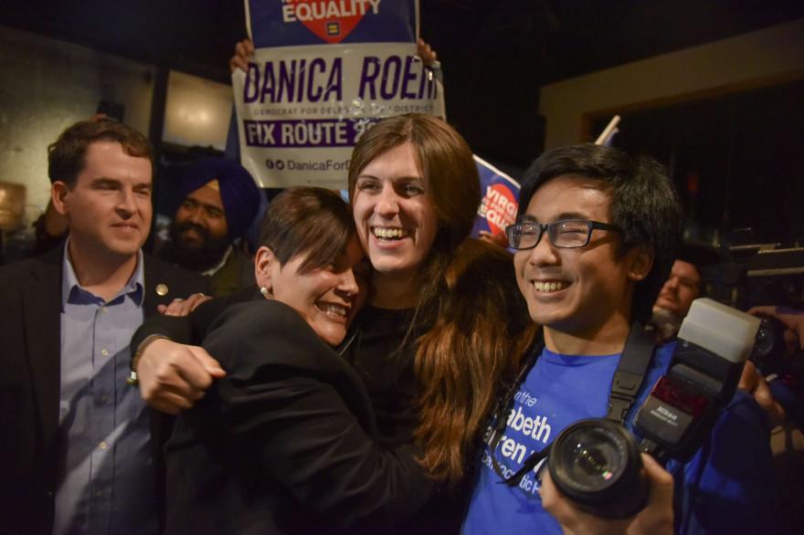 Danica Roem, le soir de sa victoire à Manassas, en Virginie