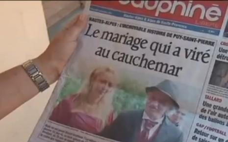 Marcel Amphoux, l'ermite qui avait épousé une parisienne de 25 ans sa cadette.