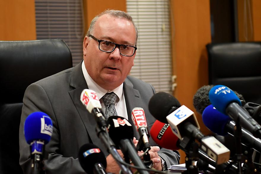 Jean-Yves Coquillat, procureur de la République de Grenoble, lors d'une conférence de presse le 30 novembre 2017