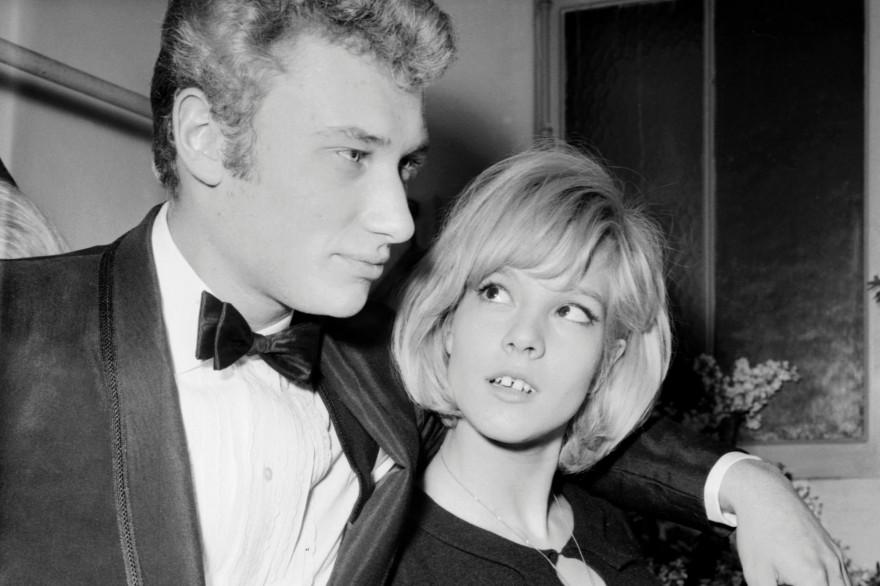 Johnny Hallyday et Sylvie Vartan, le 16 janvier 1964 à l'Olympia à Paris