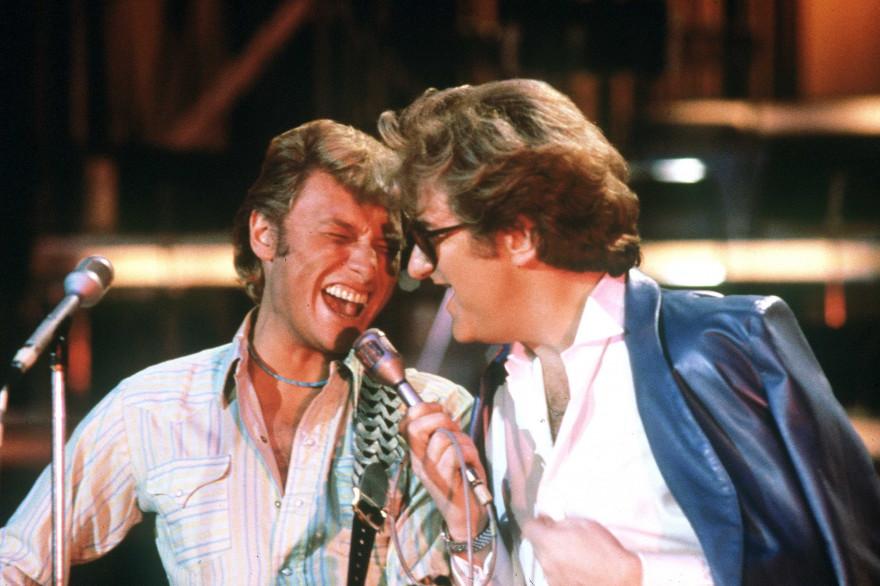 Johnny Hallyday et Eddy Mitchell