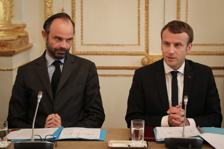 Édouard Philippe et Emmanuel Macron à l'Élysée, le 30 octobre 2017