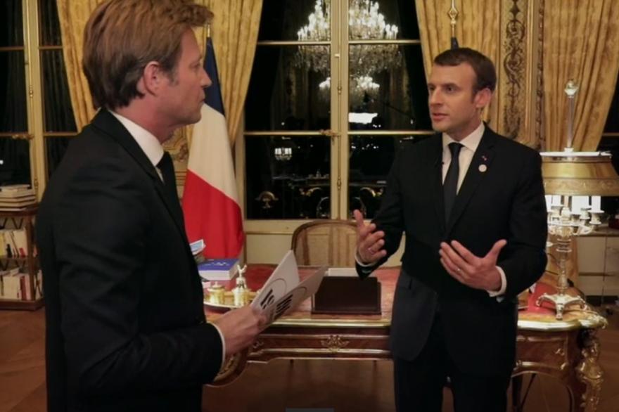 Emmanuel Macron a accordé une interview à France 2, le 17 décembre 2017