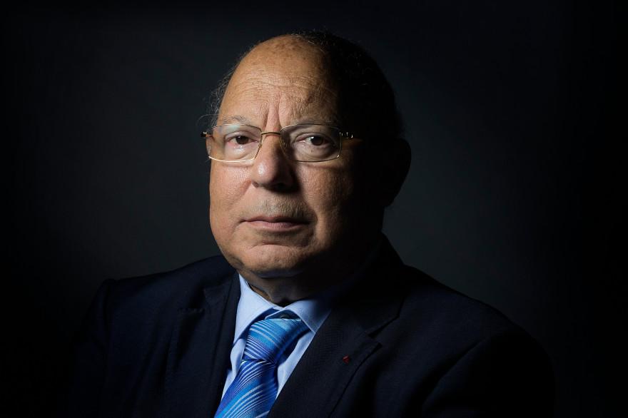 Le recteur de la Grande Mosquée de Paris, Dalil Boubakeur, le 10 mars 2015 à la grande mosquée de Paris