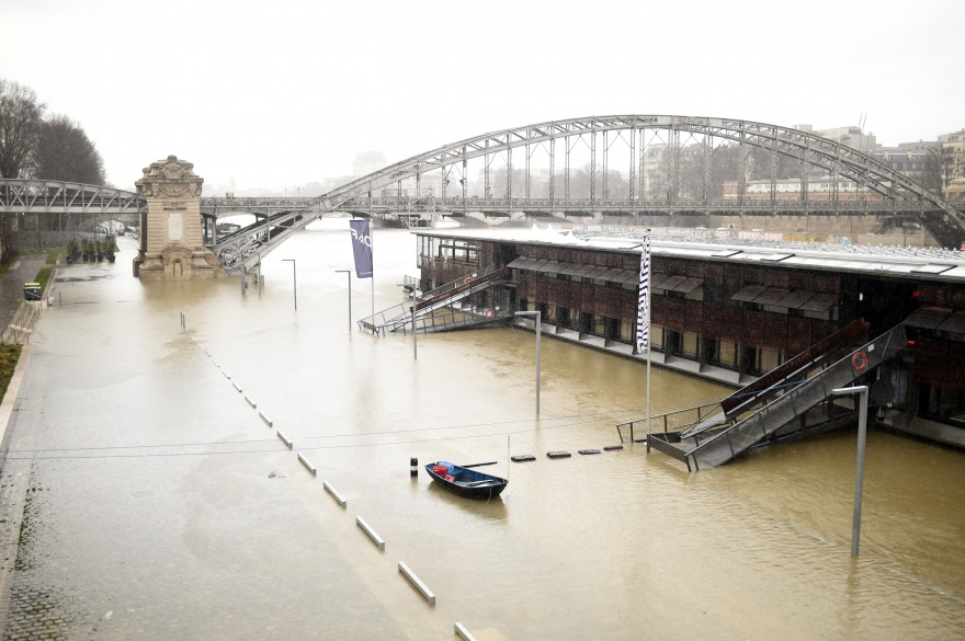 La Seine est est en crue à un niveau très élevé en ce mois de janvier 2018