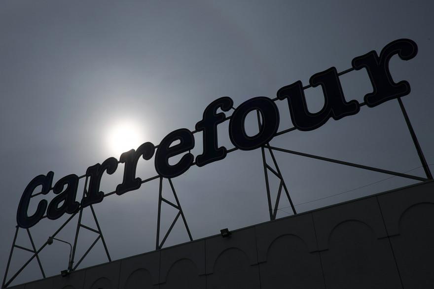 Une enseigne Carrefour à Marseille, le 23 janvier 2018