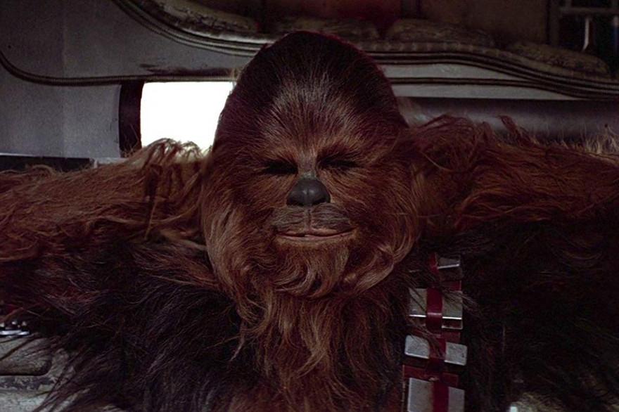 """Chewbacca, dans le premier volet de """"Star Wars"""" (1977), """"Un nouvel espoir"""""""