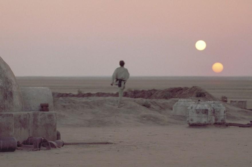 """Tatooine, la planète natale de Luke Skywalker dans """"Star Wars"""""""
