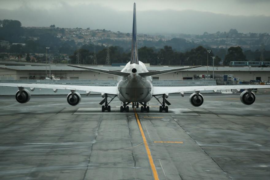 Un avion sur le tarmac de l'aéroport (illustration)