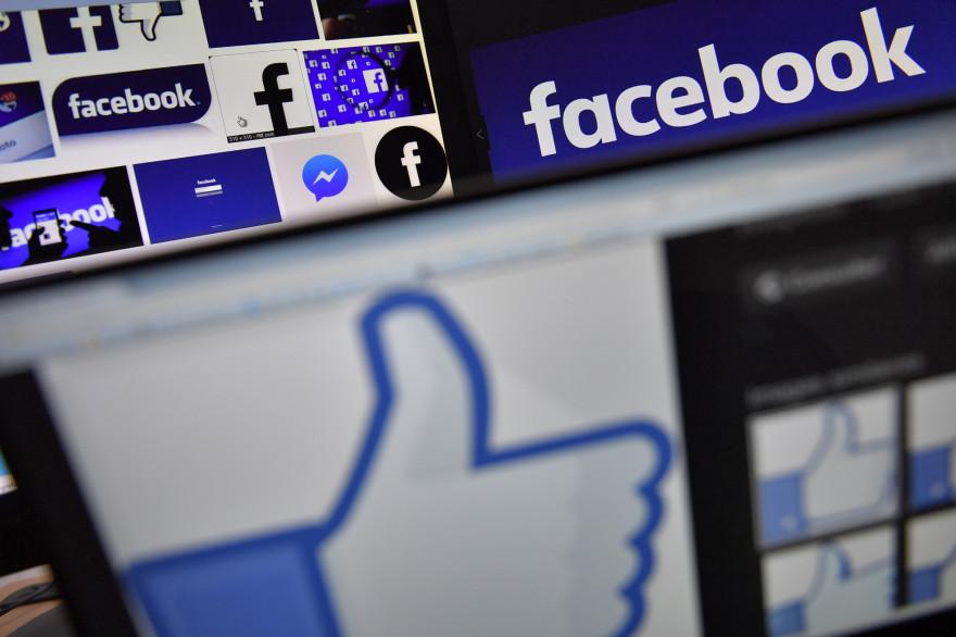 Des logos du réseau social Facebook (Illustration)