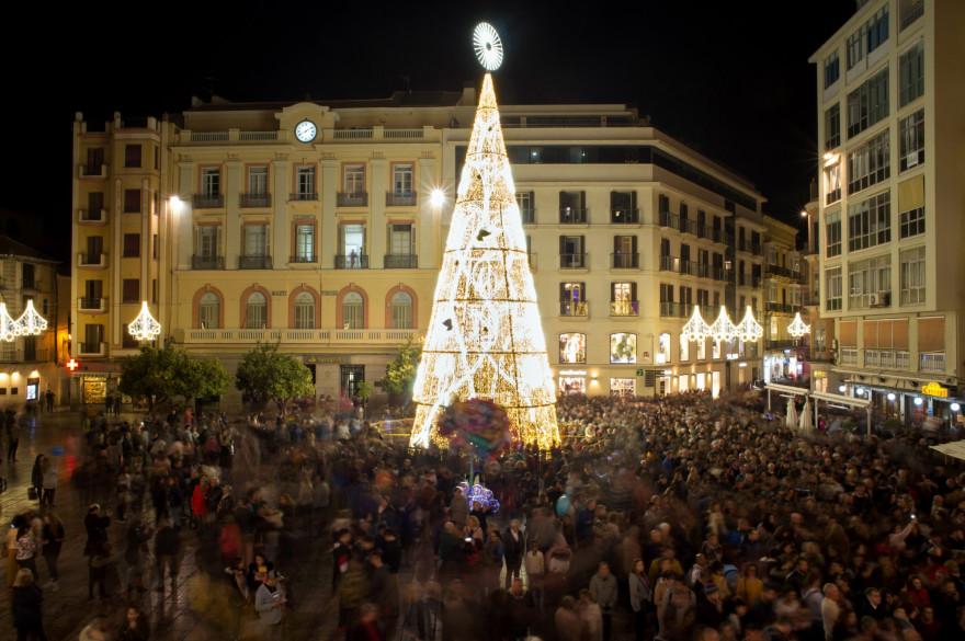 Un arbre de Noël à Malaga (Illustration)