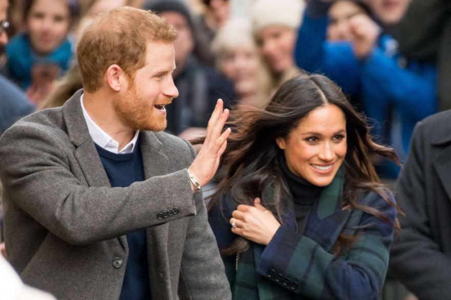 Le prince Harry et Meghan Markle le 13 février 2018 à Édimbourg