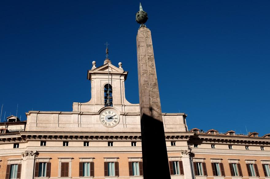 Le Palais Montecitorio abrite le Parlement italien