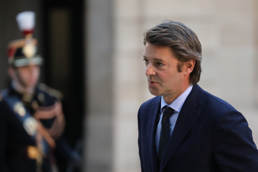François Baroin dans la cour de l'Élysée, le 30 janvier 2018