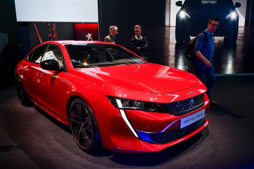 Le nouveau Peugeot 508 présenté au Salon de Genève, le 6 mars 2018