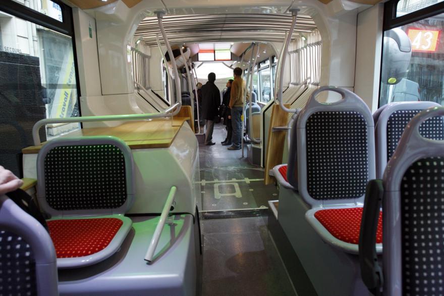 L'intérieur d'un bus (illustration)