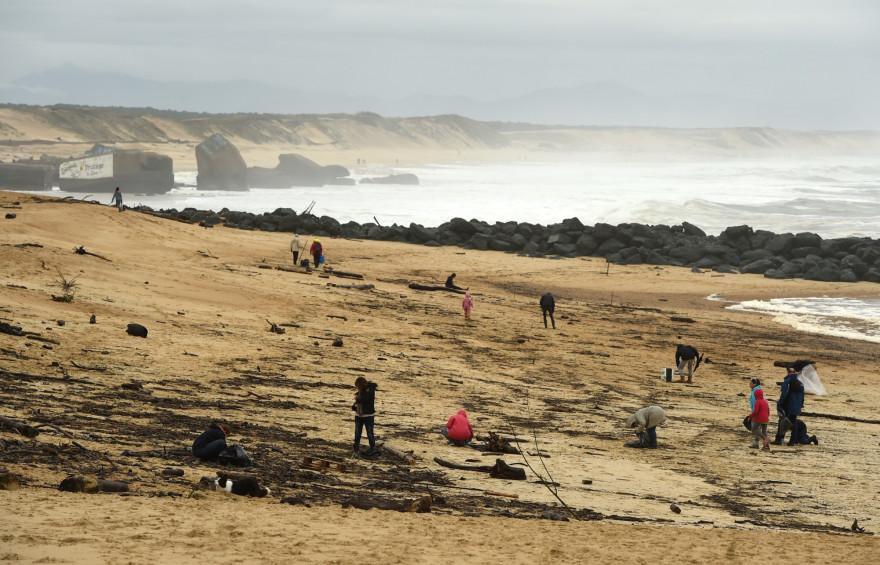 La plage de Capbreton (Landes), où ont été retrouvés des sachets de cocaïne.