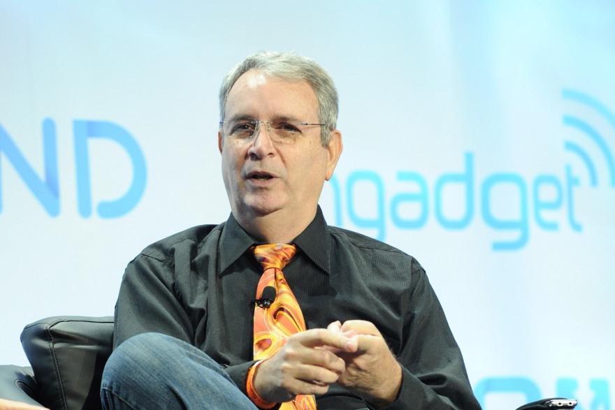David Gerrold prend la parole lors d'une conférence organisée par Engadget le 10 novembre 2013.