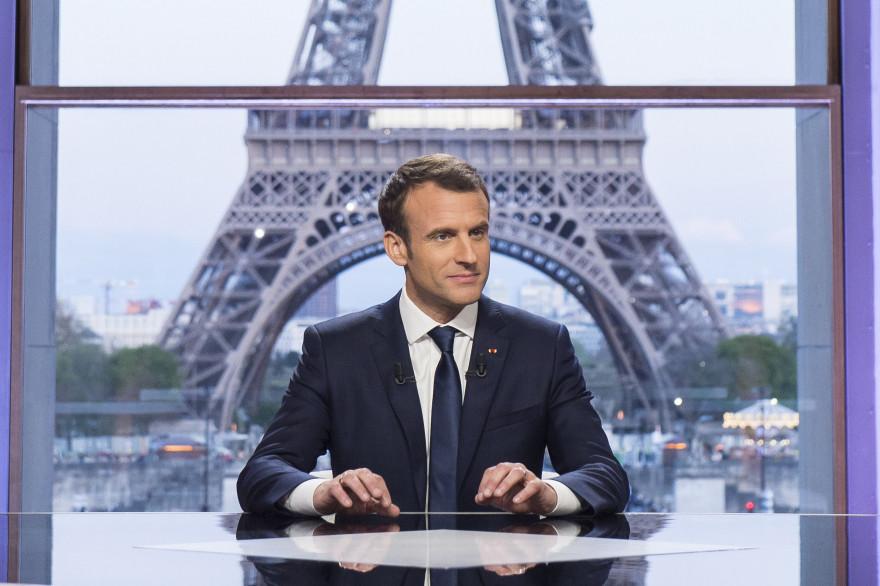 Emmanuel Macron, lors de l'interview du 15 avril face à Edwy Plenel et Jean-Jacques Bourdin, au théâtre national de Chaillot