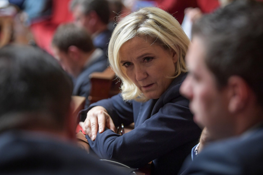 Marine Le Pen à l'Assemblée, le 22 octobre 2019