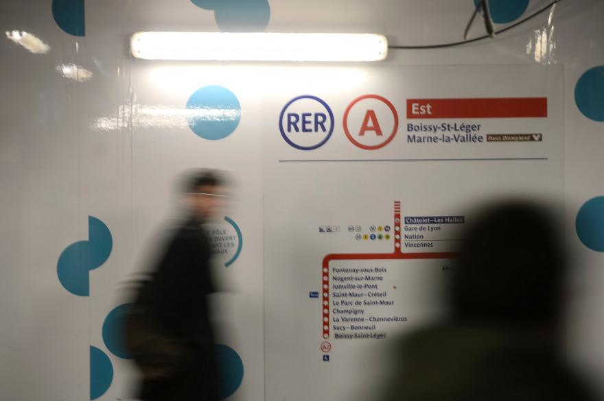 Le RER A à Châtelet-les-Halles