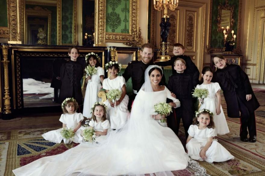 Le duc et la duchesse de Sussex accompagnés des enfants de la famille royale