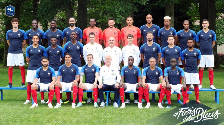 La photo officielle des Bleus pour le Mondial 2018