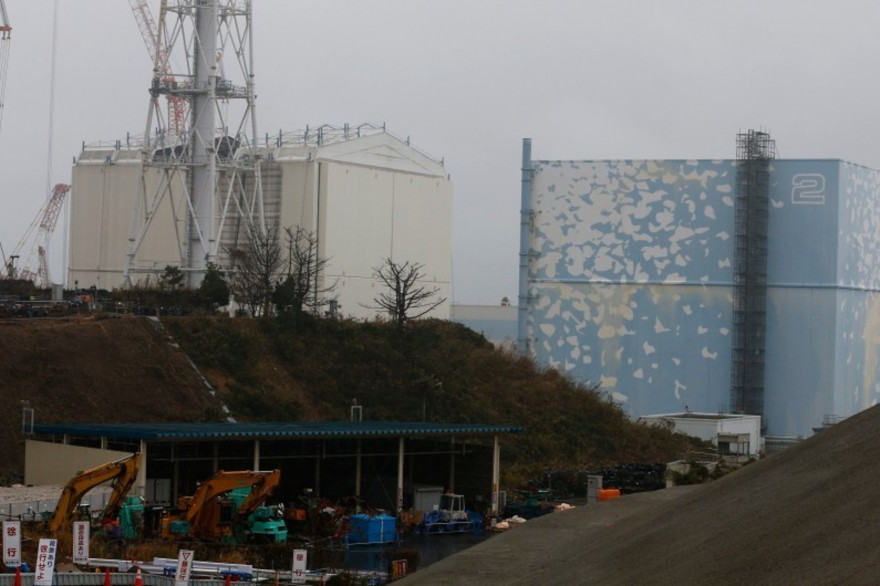 Une vue de la centrale de Fukushima prise le 12 novembre 2014