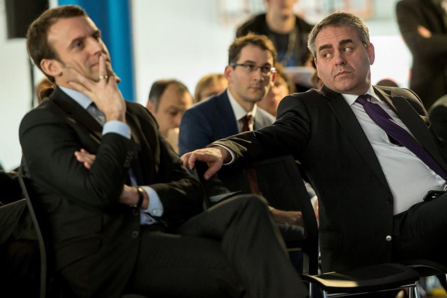 Emmanuel Macron et Xavier Bertrand le 15 février 2016