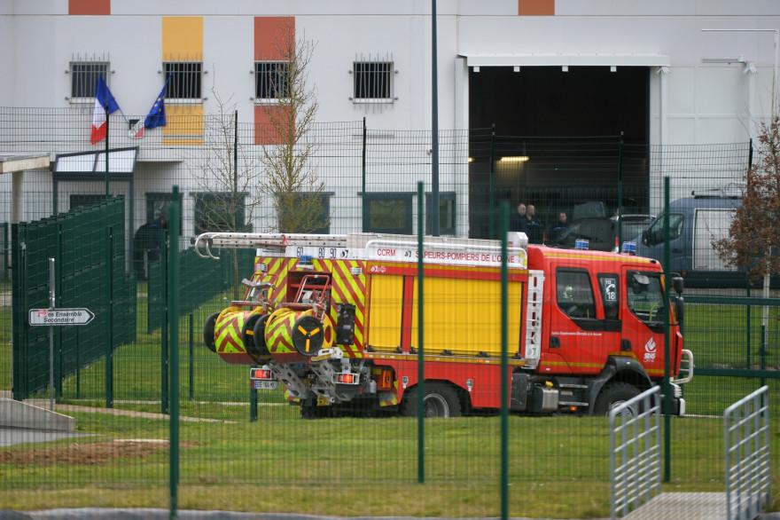 La prison d'Alençon-Condé-sur-Sarthe lors de l'intervention des pompiers