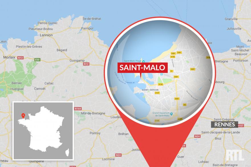 La ville de Saint-Malo, en Ille-et-Vilaine.