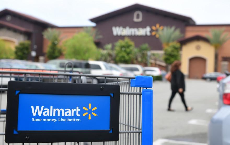 Illustration d'un supermarché Walmart en Californie