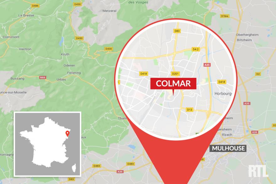 La ville de Colmar est située au nord de Mulhouse, en Alsace
