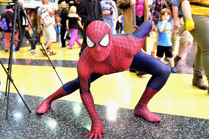 Un homme en déguisement de Spiderman aux États-Unis (illustration)