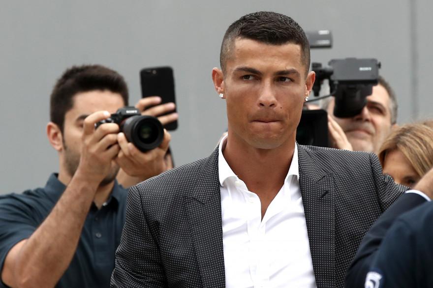 Cristiano Ronaldo lors de son arrivé à la Juventus le 16 juillet 2018