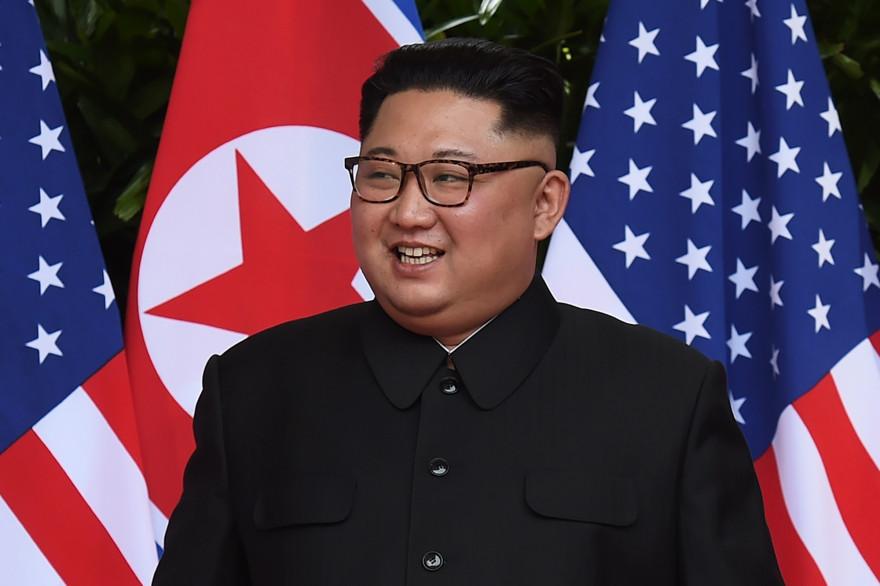 kim Jong Un lors du sommet avec Donald Trump, e 12 juin 2018 à Singapour