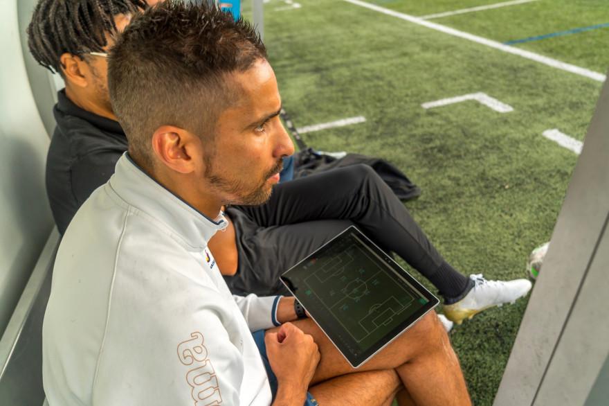 L'application permet aux supporters de coacher l'équipe de l'AG Caen