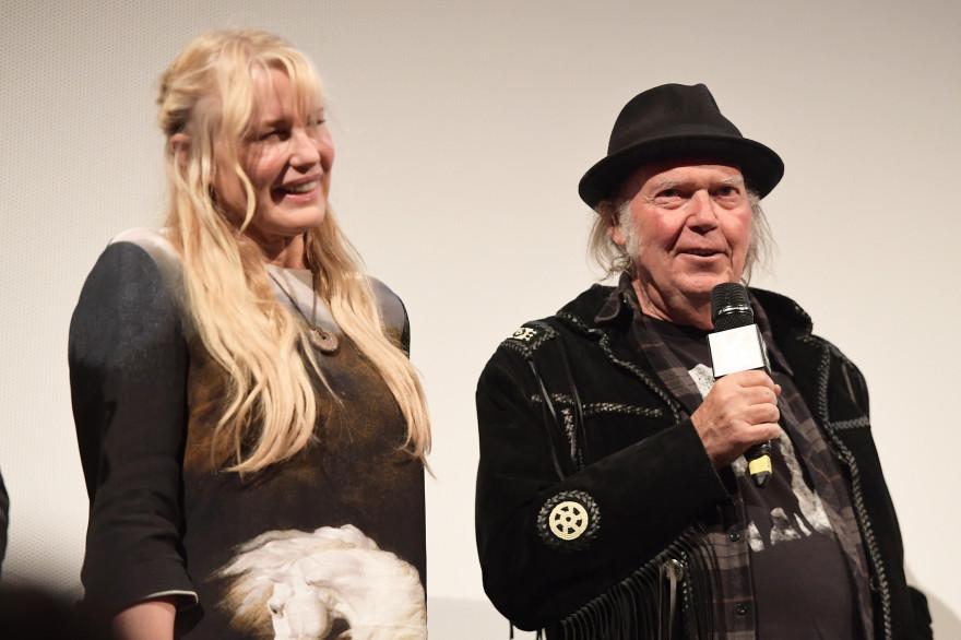 Daryl Hannah et Neil Young, le 15 mars 2018